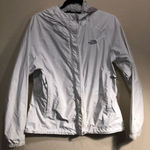 North Face Rain Jacket white size medium